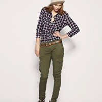 Free People   Free People Skinny Military Patch Cargo Pants at ASOS