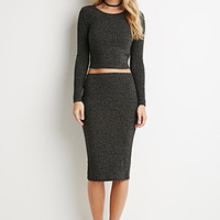 Ribbed Knit Pencil Skirt