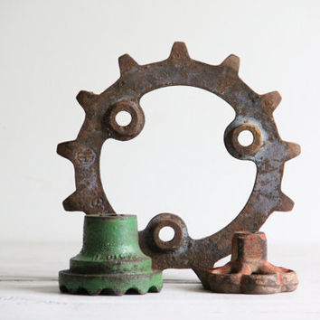 vintage industrial collection /gears, parts,