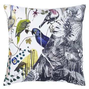Christian Lacroix Jungle Birds Perce-Neige Decorative Pillow