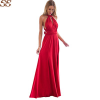 20 Colors Boho Maxi Dress Bandage Long Dress Multiway Bridesmaids Convertible Dress robe longue femme