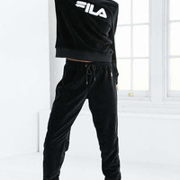 FILA + UO Lizzy Velour Pullover Sweatshirt - Urban Outfitters