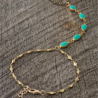 Turquoise Stone Hand Jewelry - Lacey Ryan Collection - Blue