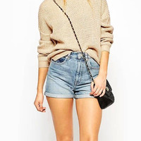 Khaki Ribbed Knit Jumper