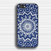 mandala IPhone 5s case,art flower Iphone 5 case,blue flower Iphone 4 case,Geometric Iphone 5c case,Rubber Case,pictorial iphone 4/4s case