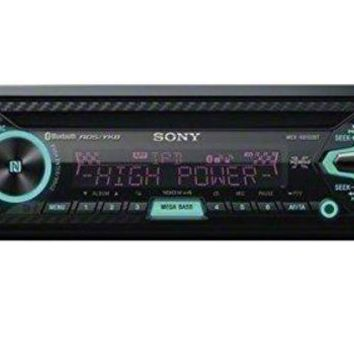 DCK4S2 Sony MEX-XB100BT Single DIN Hi-Power Bluetooth In-Dash CD/AM/FM/SiriusXM Ready Car Stereo with 160W RMS (CEA Rated Power) built-in 4-channel Amplifier