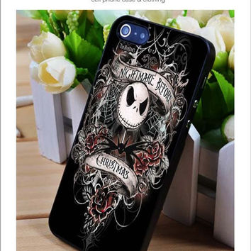 Nightmare before Christmas art iPhone for 4 5 5c 6 Plus Case, Samsung Galaxy for S3 S4 S5 Note 3 4 Case, iPod for 4 5 Case, HtC One for M7 M8