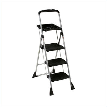 Cosco Sturdy 3 Step Max Steel Work Platform Folding Ladder with Work Tray
