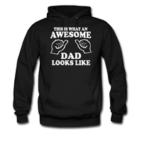 This is what an awesome dad looks like hoodie sweatshirt tshirt