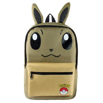 Anime Pokem Backpack Mochila Boys Girls School Bags Children Pikachu Backpack For Teenagers Kids Gift Backpacks Schoolbags