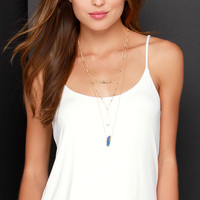 Lucy Love Have a Ball Ivory Tank Top