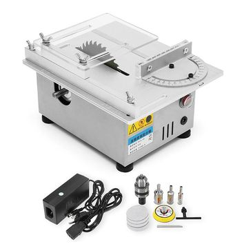 Raitool T4 Mini Table Saw Wood Working Bench Lathe Electric Polisher Grinder DIY Model Cutting Saw