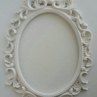 Baroque Open Back Frame Choose Your Color, Gallery Wall Oval Frame
