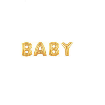 Giant Gold BABY Balloons, Giant Balloons, Baby Shower Decoration, Baby Shower Photo Prop, Pregnacy Announcement, Newborn Photo Prop