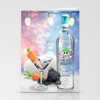 Melted Snowman Martini - North Pole Vodka Stationery Cards by soaring anchor designs ⚓