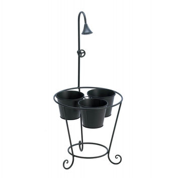 Garden Planter With Faux Shower Head