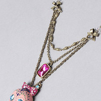The Viva La Betsey Skull Multi Chain Necklace by Betsey Johnson | Karmaloop.com - Global Concrete Culture