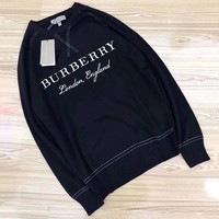 DCCKV3X Burberry Woman Men Fashion Knit Wool Top Sweater Pullover
