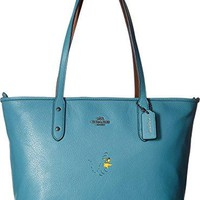 COACH Womens Snoopy City Zip Tote