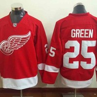 red #25 Green Detroit Red Wings #40 Zetterberg Tatar 19Yzerman Nhl Ice Hockey Abdelkader Larkin jerseys Datsyuk Lidstrom howe Nyquist