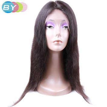 PEAP78W BY Virgin Human Hair Straight Hair Brazilian Lace Front Wigs Natural Color 10-24inch Human Hair Wigs For Black Women