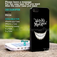 Alice In Wonderland Were All Mad Here - For iPhone 5 Black Case Cover