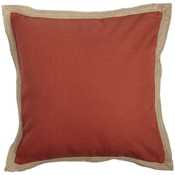 Jute Trim Pillow - Terracotta