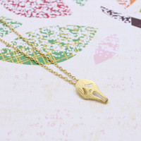 Gold ghost / Scream  necklace
