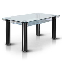 James Contemporary Dining Table, Black