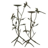 One Kings Lane - Accents We Love - IMAX S/2 Dragonfly Candleholders