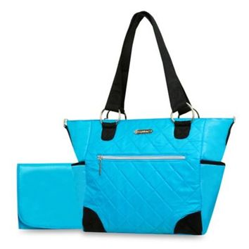 Wendy Bellissimo™ Quilted Diaper Tote in Turquoise