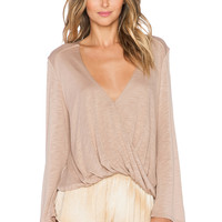 Blue Life Hayley Long Sleeve Top in Tan