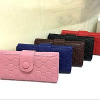 ESBNO Gucci Women Leather Solid Purse Wallet