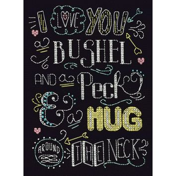 "Bushel And A Peck Counted Cross Stitch Kit 8""X10"" 14 Count"