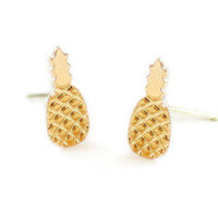 Kris Nations Emoji Earrings- Gold Pineapple