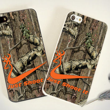 iPhone Case - Iphone 4 Case - iPhone 4s Case - iPhone 5 case - Nike Shoot It Browning - print on hard plastic