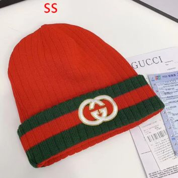 GUCCI knittedted Beanie Cap Hat Winter Warm