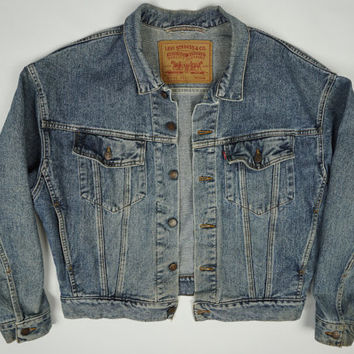 Vintage Levis Trucker Distressed Denim Jean Jacket