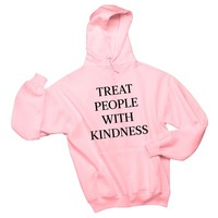 Harry Styles Treat People with Kindness Sweatshirt Women Casual Long Sleeved Hoodies Unisex Tumblr Letter Printed Bts Clothes