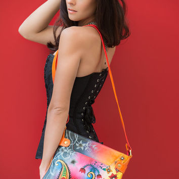 Moon Dance Hand Painted Genuine Leather Bag