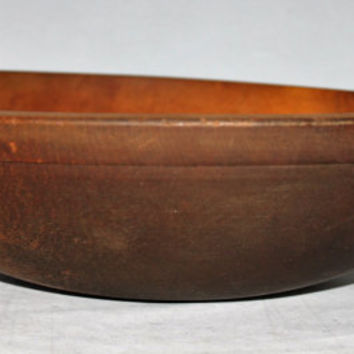 Antique Large Wood Dough Bowl Solid Maple, Center Piece