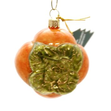 Holiday Ornaments PERSIMMON FRUIT Glass Poland Hand Painted 085R