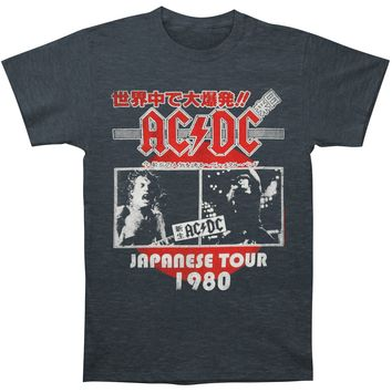 AC/DC Men's  Japanese Tour T-shirt Grey