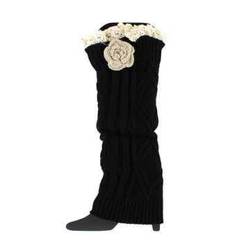 Darling Cable Knit extra long Leg Warmers Monogramming available!
