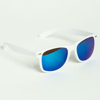BLUE METALLIC SUNGLASSES