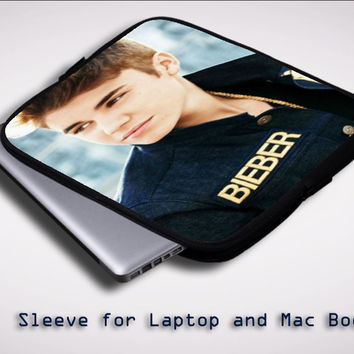 Justin Bieber Cool Photos X0049 Sleeve for Laptop, Macbook Pro, Macbook Air (Twin Sides)