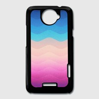 Pride Rainbow Wave (Colorful Geometric) Phone Case HTC One X Cover | Spreadshirt
