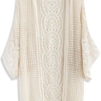 Found My Gladness Knit Cardigan in Beige