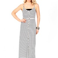 Push The Button Striped Maxi Dress | Monday Dress Boutique