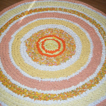 Sunshine Colors of Yellows and Oranges Round Rug - For Etsy